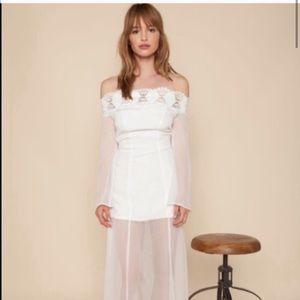 🆕 Stone Cold Fox Irina Lace Maxi Gown Dress
